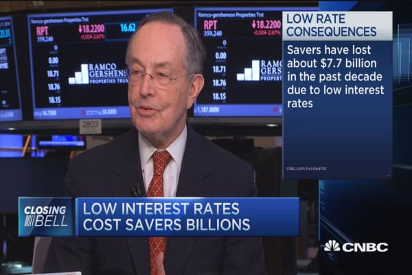 Low interest rates cost savers billions: CEO