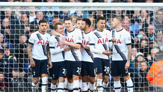 Tottenham Hotspur and A.F.C. Bournemouth at White Hart Lane on March 20, 2016 in London.