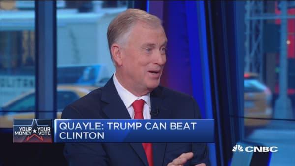 Dan Quayle: Trump can beat Hillary