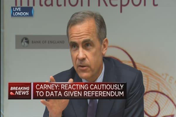 Recession possible in wake of Brexit vote: Carney