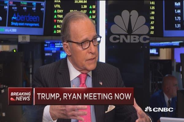 Kudlow says Trump can handle trade negotiations