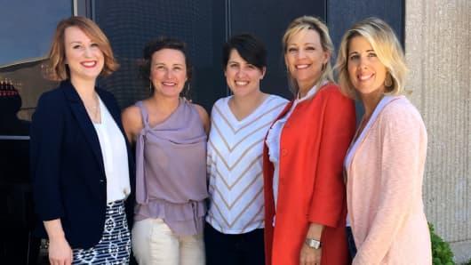 The CareBOX team left to right: Rhiannon Nunziato, Melissa Wilson, Jillian Domingue, Diana Dobson and Lisa Keefauver