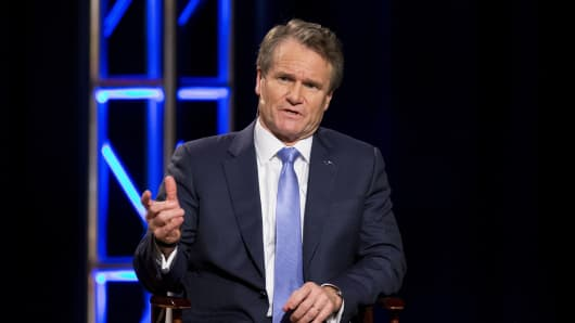 Brian Moynihan, president and chief executive officer of Bank of America Corp., speaks during the 2016 Charlotte Chamber Economic Outlook.