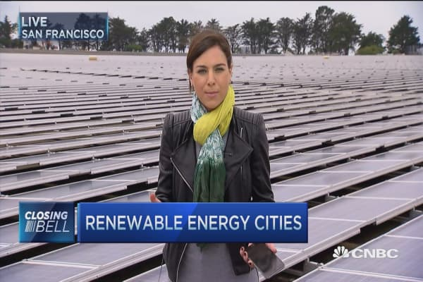 Renewable energy cities