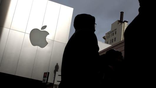Apple store gloomy