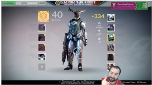 David Alen, a.k.a GuardianOutpost, streams on Twitch.