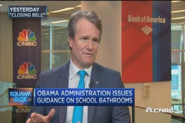 BofA's Moynihan: North Carolina bathroom law should be appealed