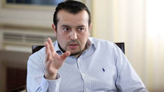 Nikos Pappas, Greece's minister of state