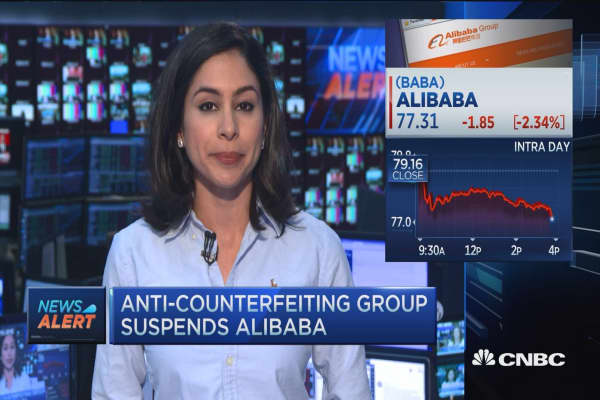 Anti-counterfeiting group suspends Alibaba