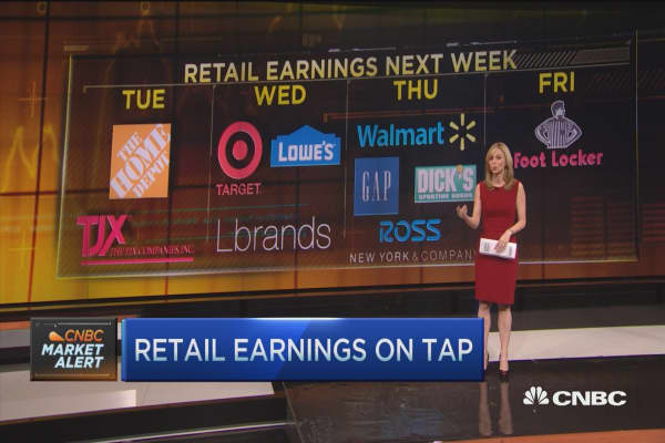 Wal-Mart, TJX & Gap to report