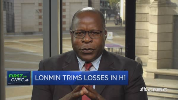 Precious metal price trend encouraging: Lonmin CEO