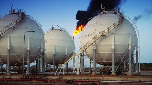 Oil and petrochemical refinery, Kaduna, Nigeria.