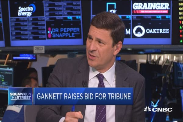 Gannett raises bid for Tribune