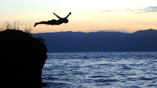 Dive into ocean