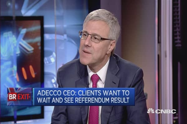 UK with Europe will be stronger: Adecco CEO