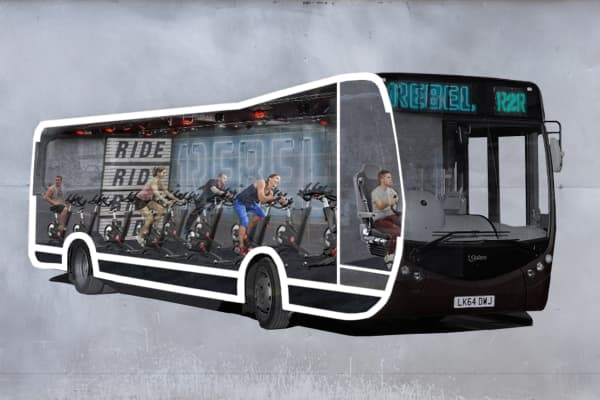 Spin on the bus on your way to work....