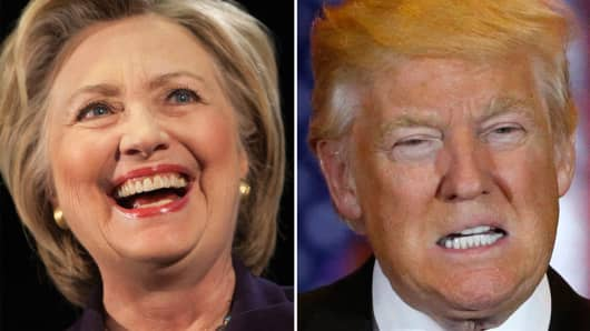 Hillary Clinton, Democratic Presidential Candidate and Donald Trump, Republican Presidential Candidate