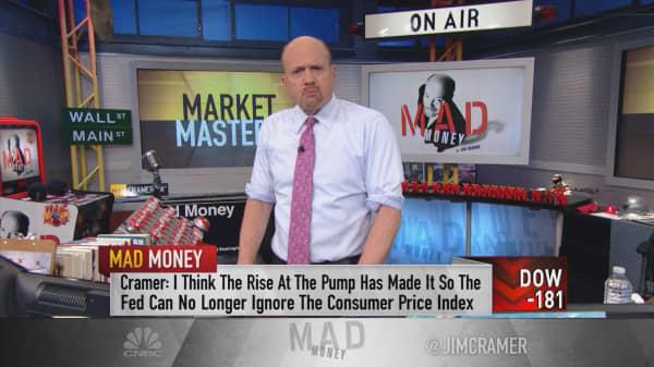 Cramer: Oil pushing Fed to raise rates