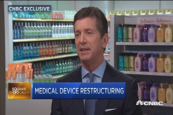 JNJ CEO: Restructuring growth