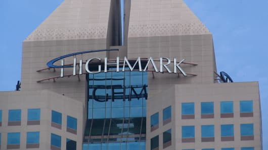 The Highmark Building in downtown Pittsburgh, Pennsylvania.