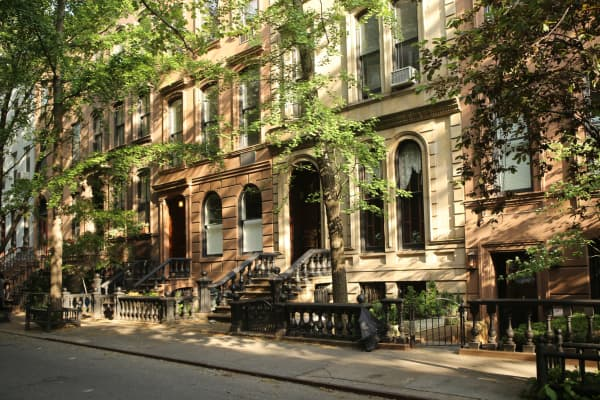 Upper West Side brownstones