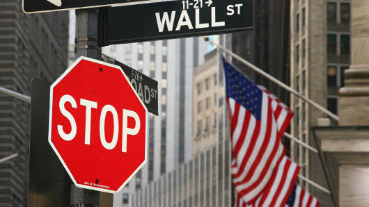 Wall Street Stop sign