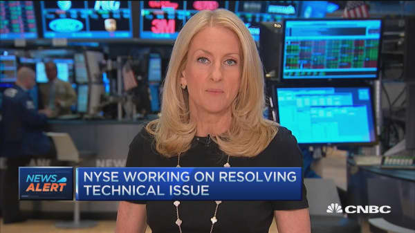 NYSE working on resolving technical issue