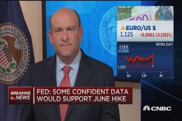 Fed: June rate hike likely if data improves