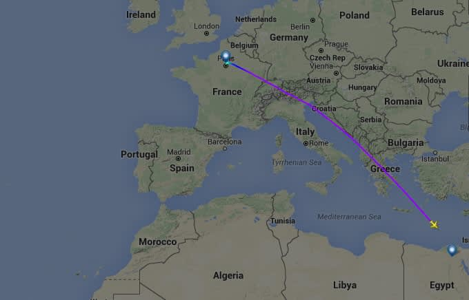egypt airlines tracking