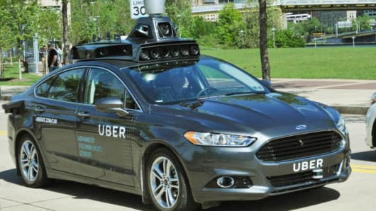 A test car from Uber's Advanced Technologies Center in Pittsburgh.