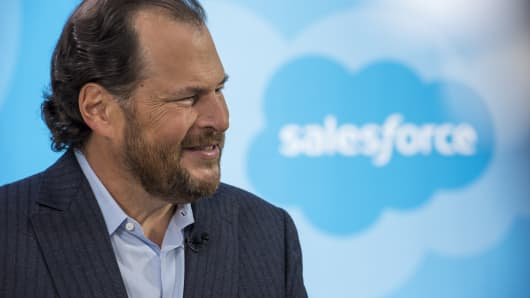 Marc Benioff, chairman and chief executive officer of Salesforce.com