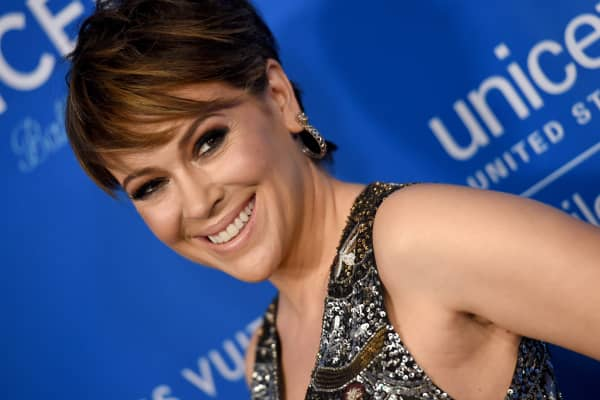 Actress Alyssa Milano arrives at the 6th Biennial UNICEF Ball at the Beverly Wilshire Four Seasons Hotel on January 12, 2016 in Beverly Hills, California.