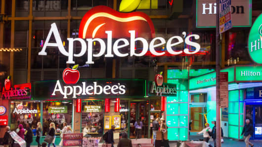 Premium: Applebees in Times Square, New York