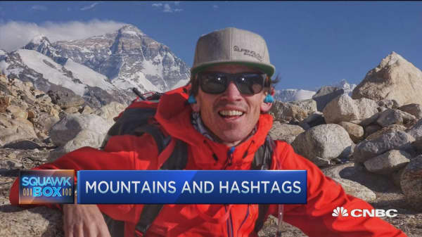 Mountaineers' Snapchat climb to top of the world