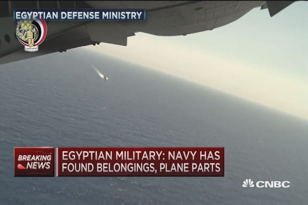 Egyptian military: Navy has found belongings, plane parts