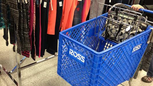 A shopper shops in a Ross store in Lewiston, Idaho.