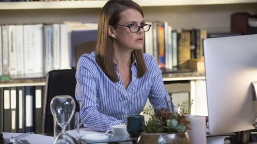 Suzanne Cryer as Laurie Bream on Silicon Valley