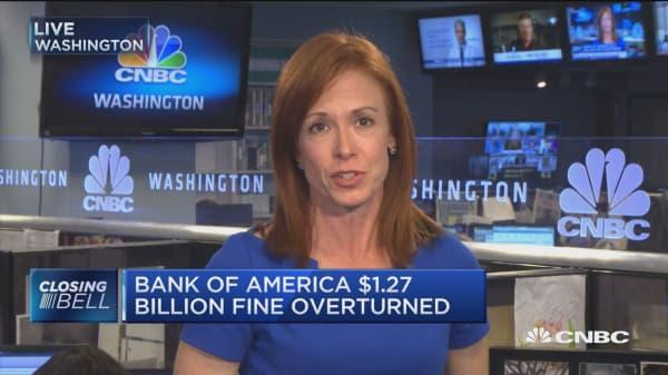 Bank of America $1.27 billion fine overturned