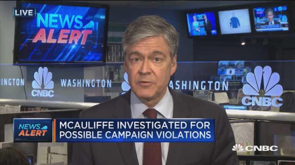 FBI investigates McAuliffe for illegal campaign violations
