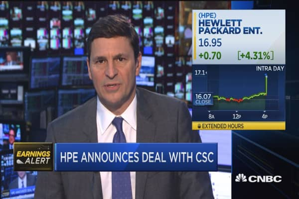 HPE announces deal with CSC