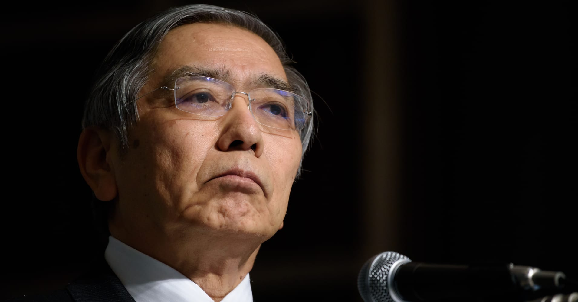 BOJ's Kuroda blames stock rout on heightening global uncertainty