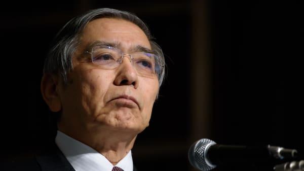 Haruhiko Kuroda, governor of the Bank of Japan