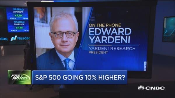 S&P 500 going 10% higher: Yardeni