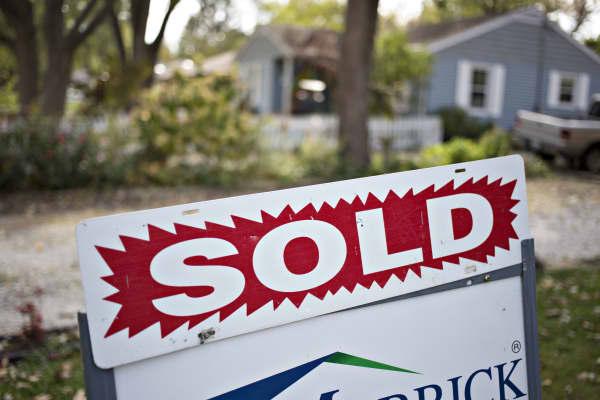 House sold sign Peoria, Illinois