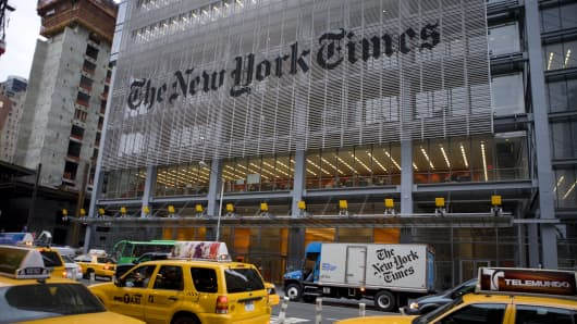New York Times Shares Surge as Online Subscribers Keep Growing