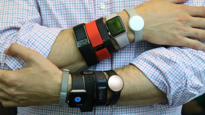 Here's what happened when I wore 10 fitness trackers at once