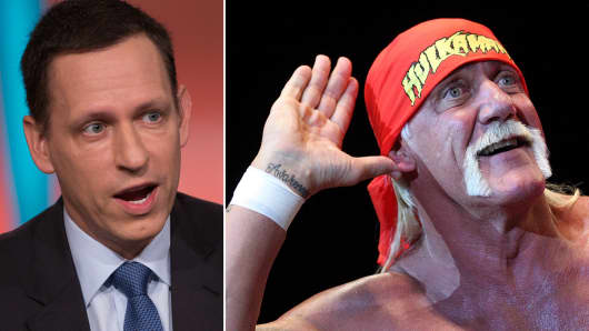 Peter Thiel to back Hulk Hogan's law suit against Gawker.