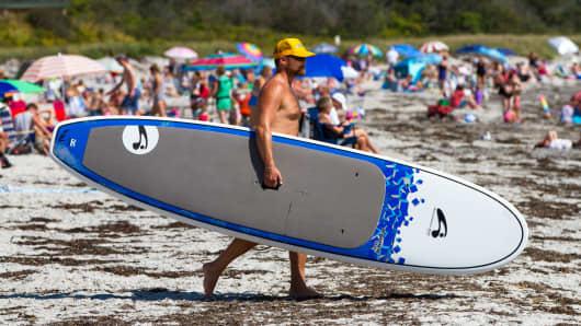 Warm weather surfboard
