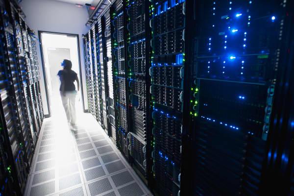 data storage server room