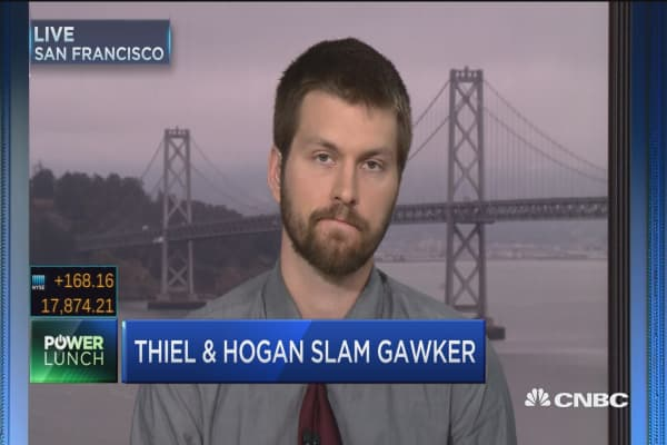 Thiel's beef with Gawker